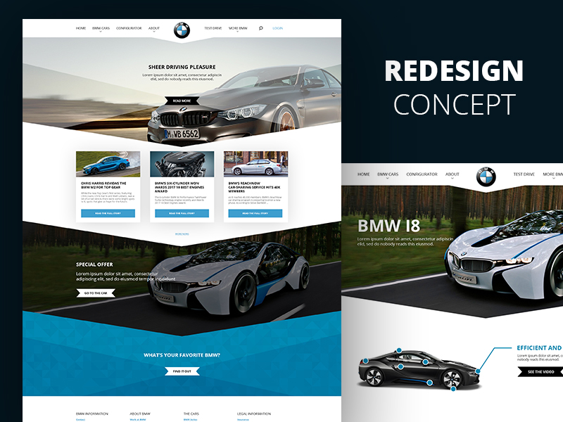 BMW Website Redesign
